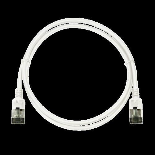 CAT6a U/FTP Ultraflex, 100% koper, wit, 0.3M