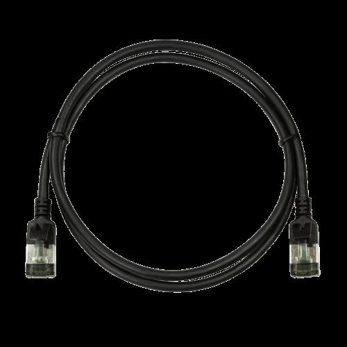CAT6a U/FTP Ultraflex, 100% koper, zwart, 0.3M