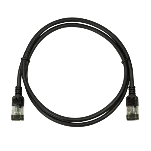 CAT6a U/FTP Ultraflex, 100% koper, zwart, 3M