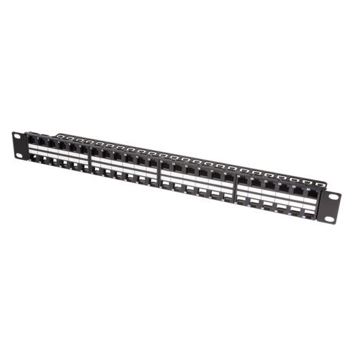 Keystone patchpanel 48 poorts RAL9005