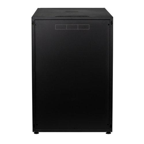 18U serverkast met glazen voordeur (BxDxH) 600x800x871mm