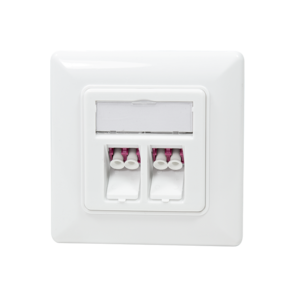 Fiberglass flush-mounted box faceplate 2-way