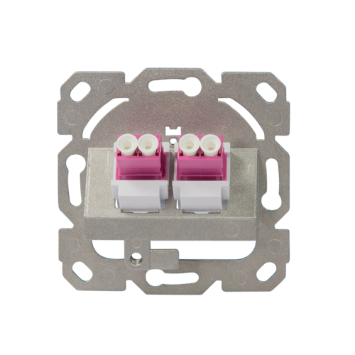 Glasvezel inbouwdoos faceplate 2-voudig