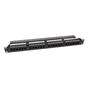 CAT6 24 poorts patchpanel met backbar