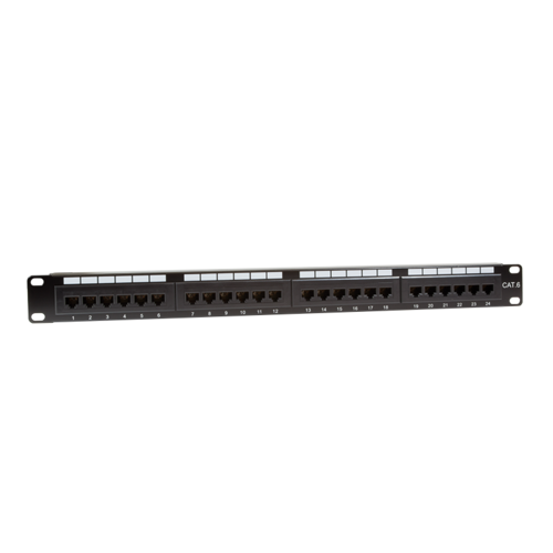 CAT6 24 port patch panel with backbar