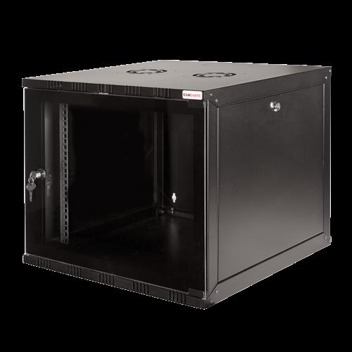 21U wandkast met glazen deur 600x450x1022mm (BxDxH)