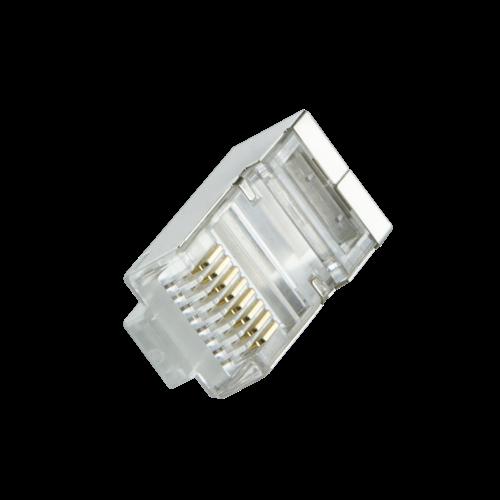 CAT6 Connector met tule RJ45 - STP 100 stuks voor soepele kabel