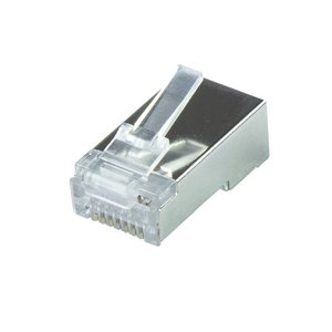 CAT6a Connector RJ45 - STP 10 stuks voor soepele en stugge kabel