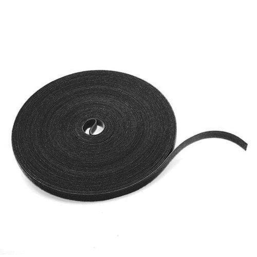 Klittenband 10mm zwart 25M op rol