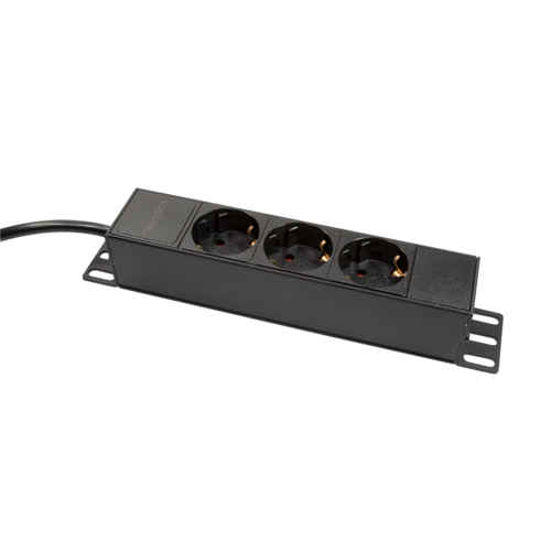 1U 3-way power strip for 10 '' server rack