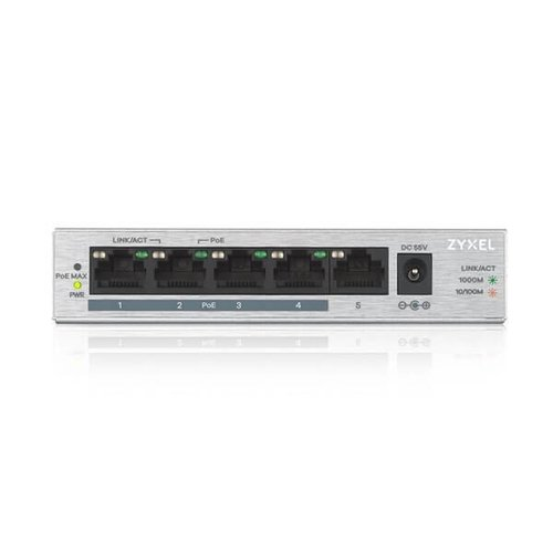 5 Poorts Power over Ethernet (PoE) Switch 10/100/1000 Mbps