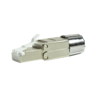 CAT8.1 Toolless Connector RJ45 - STP voor soepele en stugge kabel