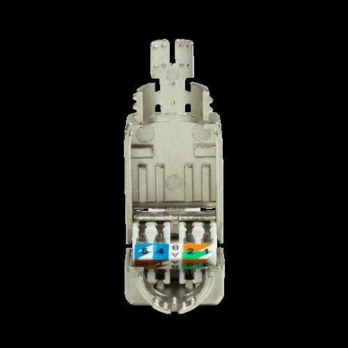 CAT8.1 Toolless Connector RJ45 - STP voor soepele en stugge kabel