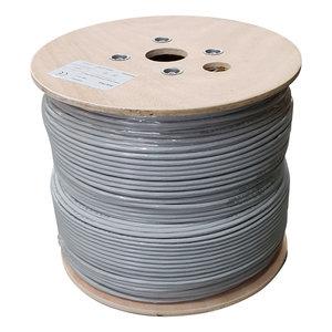 UTP CAT6 netwerkkabel stug 500M 100% koper grijs