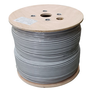 UTP CAT6 network cable solid 500M 100% copper grey