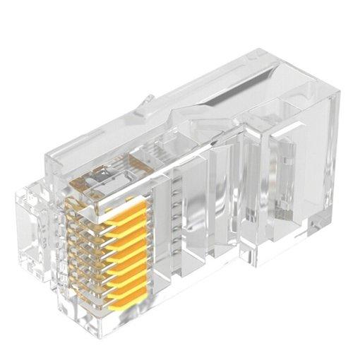 CAT6 Connector RJ45 - Unshielded 100 stuks  voor soepele en stugge kabel
