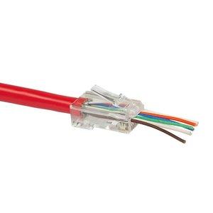 Doorsteek CAT6 UTP Connector 100 stuks EZ-RJ45 voor soepele en stugge kabel