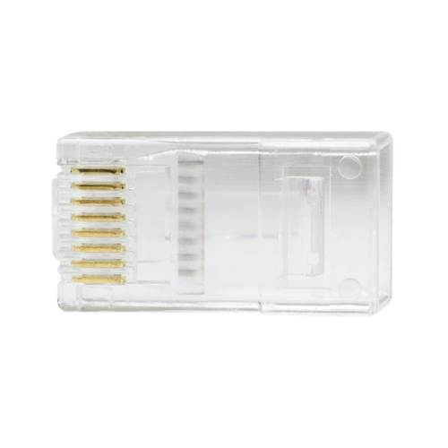 CAT6 EZ-RJ45 connector - UTP 100 pieces for stranded and solid cable
