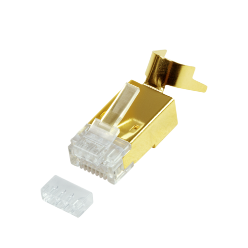 Cat.8.1 / Cat.6A RJ45 vergulde connectoren 10 stuks