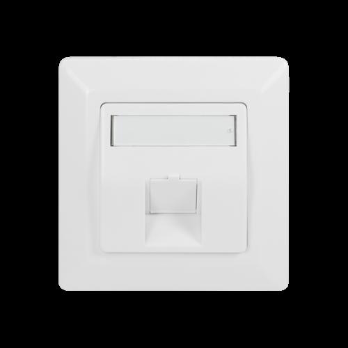 Wandcontactdoos voor 1 Keystone RAL9003