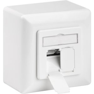 Cat6 Surface Modular Outlet 2x RJ45 Fully Shielded with LSA
