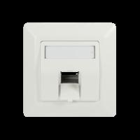 Keystone inbouwdoos voor 1 keystone RAL9010