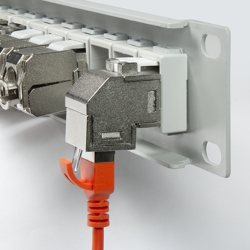 CAT6a keystone connector STP angled