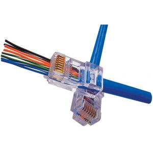 Doorsteek CAT5e Connector RJ45 - UTP 10 stuks voor soepele en stugge kabel