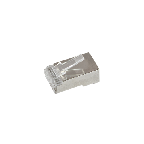 Doorsteek CAT6 Connector RJ45 - STP 50 stuks voor soepele en stugge kabel