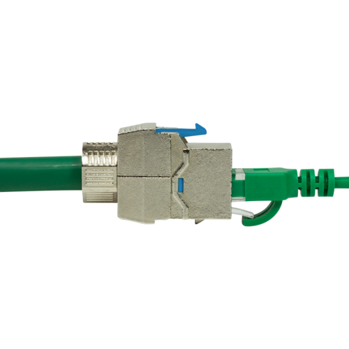 CAT8.1 keystone jack RJ45 STP toolless