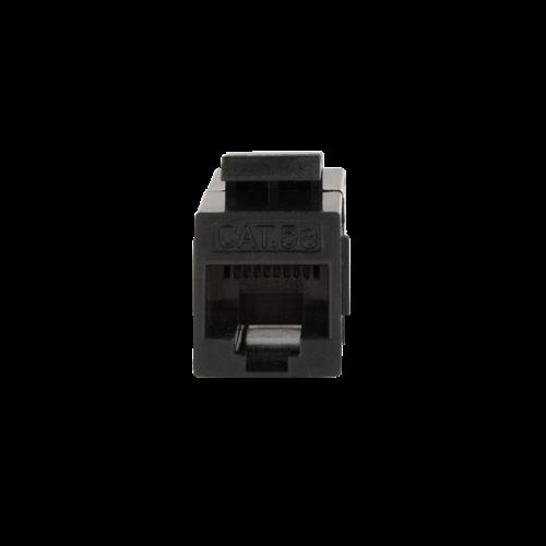 CAT5e keystone coupler UTP black
