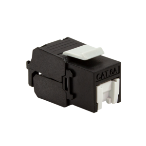 CAT6a keystone jack RJ45 UTP toolless black