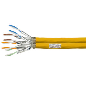 S/FTP CAT7a duplex network cable solid 50M 100% copper yellow