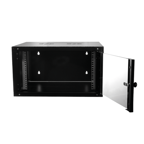 18U wall cabinet with glass door 600x560x888mm (WxDxH)