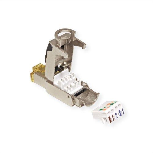 CAT6a toolless RJ45 connector - STP voor soepele en stugge kabel