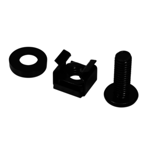 Bintra M6 cage nuts and rings 50 pcs black
