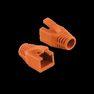 RJ45 strain relief boot 8mm orange 50 pcs