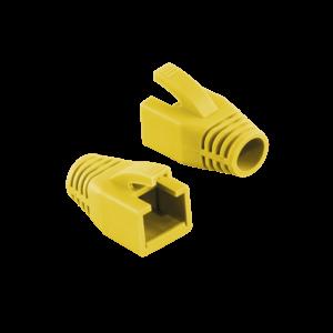 RJ45 strain relief boot 8mm yellow 50 pcs