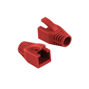 RJ45 strain relief boot 8mm red 50 pcs