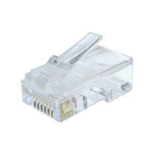 CAT6 plug RJ45 - unshielded 100 pcs for solid cable