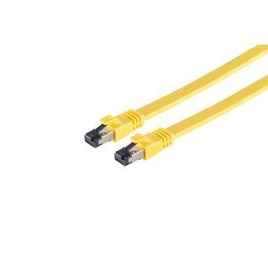 U/FTP CAT8.1 1M flat yellow 100% copper