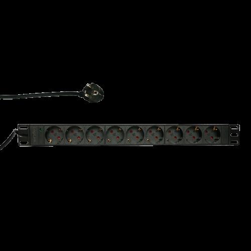 BASIC 9 voudige stekkerdoos voor 19 inch serverkasten