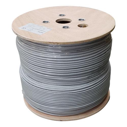 S/FTP CAT6 netwerkkabel stug 500M 100% koper grijs (netwerkkabel op rol)