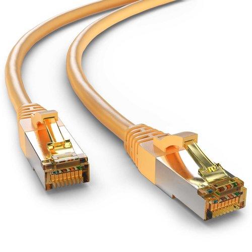 CAT6a S/FTP PIMF LSZH Geel 0.5 meter