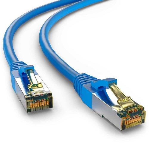 Cat6a S/FTP PIMF LSZH Blauw 1 meter