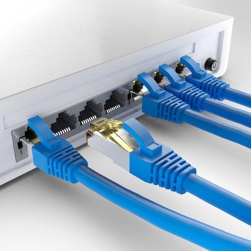 Cat6a S/FTP PIMF LSZH Blauw 2 meter