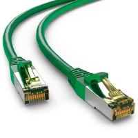 Cat6a S/FTP PIMF LSZH Groen 0.5 meter