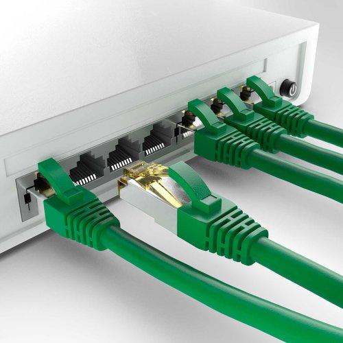 Cat6a S/FTP PIMF LSZH Groen 1 meter