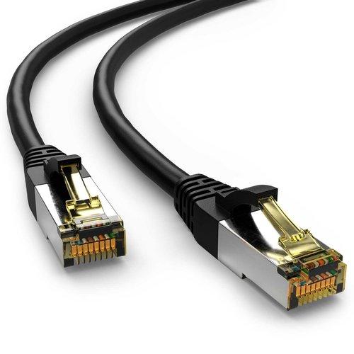 Cat6a S/FTP PIMF LSOH zwart 7.5 meter