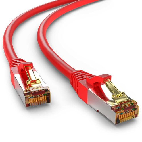 Cat6a S/FTP PIMF LSZH rood 5 meter